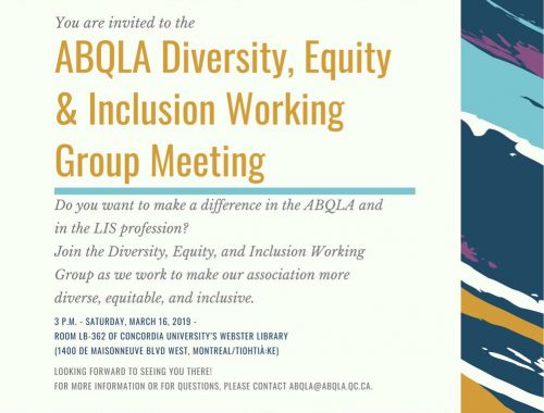 ABQLA Diversity, Equity & Inclusion Working Group Meeting 1